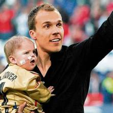 Robert Enke with daughter Lara